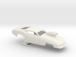 1/12 1970 Pro Mod Mustang With Scoop in White Natural Versatile Plastic