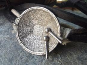 """Tenor Bass 'Surface"""" bracelet, S in Polished Nickel Steel"""