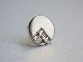 Pie Lattice Earrings 3 in Natural Silver