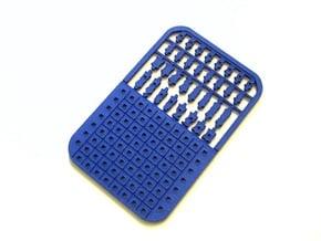 Credit Card Chess Set in Blue Processed Versatile Plastic