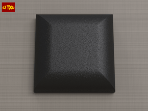 "ROTJ Greeblies - Black ""rubber"" foot in Black Natural Versatile Plastic"