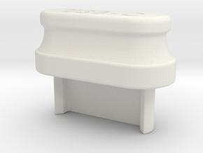 USB-C Grip Cover in White Natural Versatile Plastic