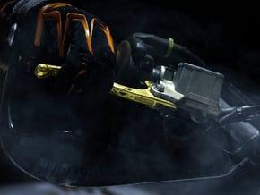Pikapikp's customizable KTM Brembo brake lever in Polished Bronzed Silver Steel