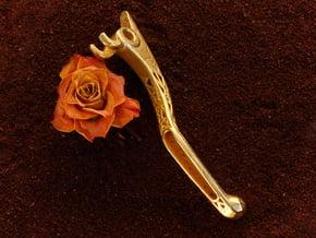 Pikipakip´s KTM Brembo brake lever in Polished Bronzed Silver Steel