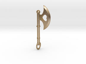 Queen of Hearts Earrings (Single Earring/Axe) in Polished Gold Steel