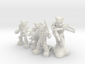 Waruder Kuwagatrer Squad, set of 4 35mm Minis in White Natural Versatile Plastic