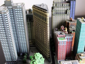 Flatiron Building New York 4 x 4 in Full Color Sandstone