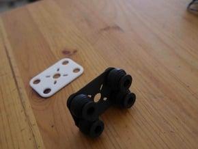 Rubbers Support  in Black Natural Versatile Plastic