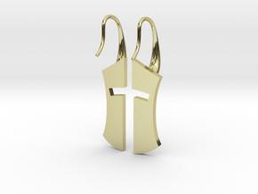 """""""Nation's Battle"""" split Earrings in 18k Gold Plated Brass"""