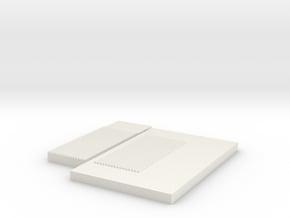 Corrugated Mold- Small in White Natural Versatile Plastic