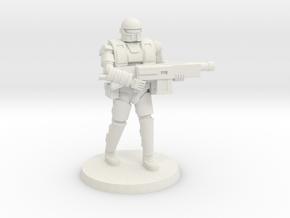 36mm Heavy Armor Trooper 1 in White Natural Versatile Plastic