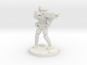 36mm Heavy Armor Trooper 4 in White Natural Versatile Plastic