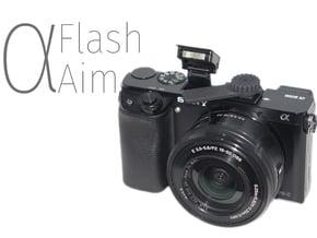 ⍺Aim (Flash Aim for Sony A6000) in Black Natural Versatile Plastic