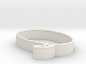 Speech Bubble Cookie Cutter2 in White Natural Versatile Plastic