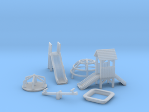 N Scale Playground Equipment in Smooth Fine Detail Plastic