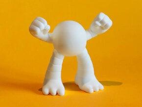 Large Power Ape in White Processed Versatile Plastic