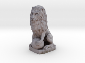 Medici Stone Lion in Full Color Sandstone