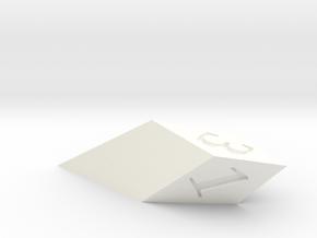 shard dice in White Processed Versatile Plastic: d3