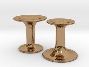 Flume Cufflinks in Polished Brass
