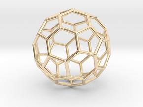 0624 Fullerene c60-ih - Model for the BFI (Bulk) in 14k Gold Plated Brass