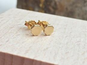 Flower Power - Mini Stud Earrings in 14k Gold Plated Brass