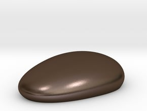 Metal Pebble paperweight in Polished Bronze Steel