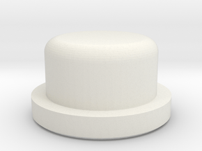 Rounded firebutton for TalyMod in White Natural Versatile Plastic