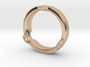 Hex 3 Ring - FAT edition in 14k Rose Gold Plated Brass: 4 / 46.5