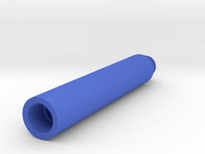 100mm 14mm- External Airsoft Barrel Extension in Blue Processed Versatile Plastic
