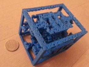 Labyrinthian Cuboid in White Natural Versatile Plastic