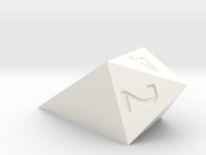 shard dice in White Processed Versatile Plastic: d4