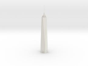 One World Trade Center (1:2000) in White Natural Versatile Plastic