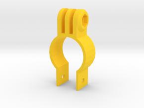"GoPro Mount for 1"" Scope Tube (Bottom Screw) in Yellow Processed Versatile Plastic"