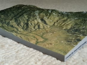 """Saguaro East Map - 8.5""""x11"""" in Glossy Full Color Sandstone"""