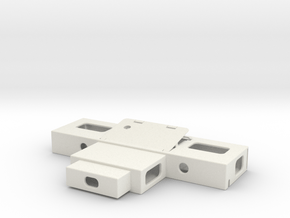Component Assembly in White Natural Versatile Plastic