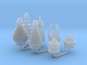Ice Breaker Nozzles All A 1:6 scale in Smooth Fine Detail Plastic