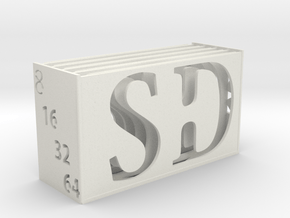 Memory Card Holder in White Natural Versatile Plastic
