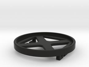 Lens Cap Buckle in Black Natural Versatile Plastic