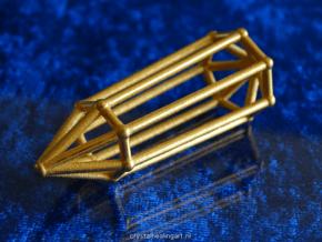 Phi Vogel Crystal - 7 sided in Polished Gold Steel