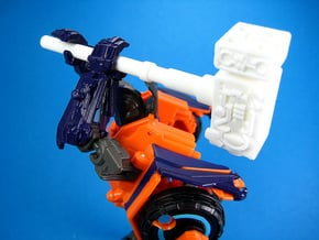 Cosmic Hammer - TF Compatible 5mm Weapon in White Natural Versatile Plastic