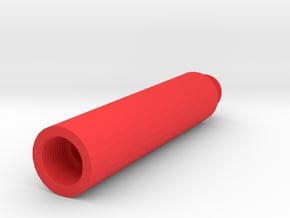 80mm 14mm+ External Airsoft Barrel Extension in Red Processed Versatile Plastic