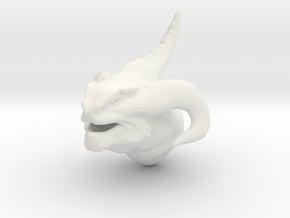 Non-Scale Dragon Head in White Natural Versatile Plastic