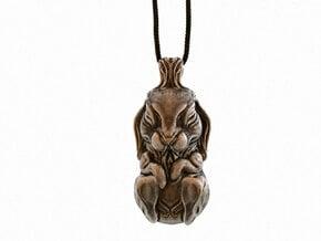 The Sleeping Rabbit - Pendant in Polished Bronze Steel