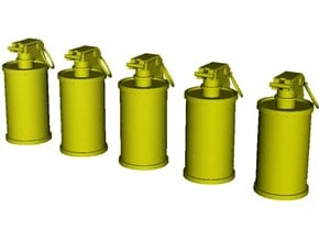 1/10 scale M-18 smoke grenades x 5 in Smooth Fine Detail Plastic