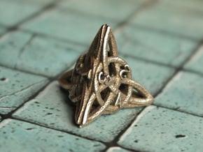 Celtic D4 in Polished Bronzed Silver Steel
