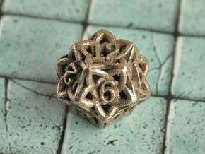 Celtic D12 in Polished Bronzed Silver Steel