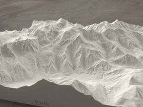8''/20cm Mt. Blanc, France/Italy, Sandstone in Natural Sandstone