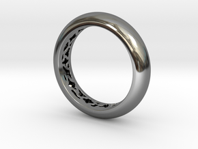 Pattern Ring  in Fine Detail Polished Silver
