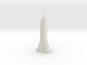 Empire State Building (1:2000) in White Natural Versatile Plastic