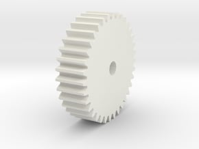 Spure Gear in White Natural Versatile Plastic